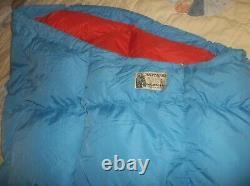 Vintage USA Made Eddie Bauer Totem Karakorum Goose Down Sleeping Bag Long -10 F