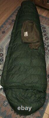 Vintage USA The North Face Grey Goose Down Sleeping Bag Adult Mummy 7.5 Green