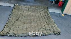 Vintage Woods Arctic 3 Star Sleeping Bag Robe Green Canvas Down Filled with Liner