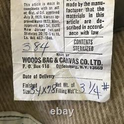 Vintage Woods Arctic 3 Star Sleeping Bag Wool Down Canvas Sleeping Robe