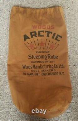 Vintage Woods Arctic Sleeping Robe Original Bag 90 x 90 Sleeping Bag Eiderdown