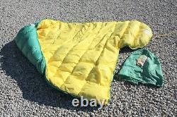 Vintage Woods Mt. Blanc 4 1/2 Arctic Brand Down Sleeping Bag Made Canada 33x88