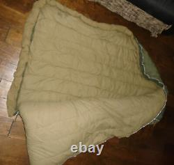 Vtg 1951 US CASUALTIES Military Sleeping Bag USA Army Goose Down with Coyote Fur