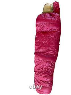 Vtg Snow Lion Down Sleeping Bag Full Length Mummy Style USA Berkeley CA