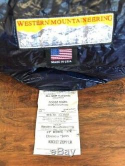 Western Mountaineering MegaLite 6' RZ Ultralight down backpacking sleeping bag