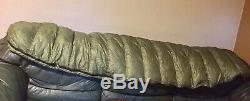 Western Mountaineering Mitylite Sleeping Bag 40 Degree Down Green 6' 3 USA
