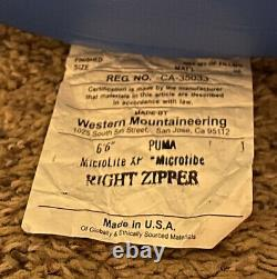 Western Mountaineering Puma MF 66 Right Zip -25F Sleeping Bag