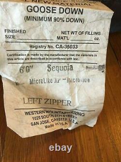 Western Mountaineering Sleeping Bag SEQUOIA MF 6' Foot Left Zipper (5F degree)
