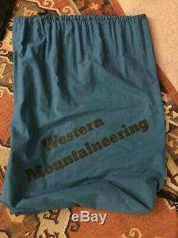 Western Mountaineering Tamarack sleeping bag, 30F, 19oz, 5 foot length