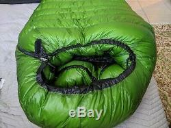 Western Mountaineering Versalite Down Sleeping Bag 10F 6ft LEFT ZIP OVERFILL