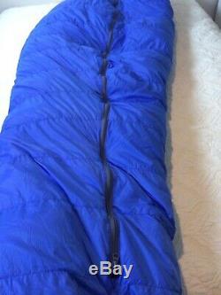 Western Mountaineering Versalite Sleeping Bag 10 Degree Down Blue 6 Ft Left USA